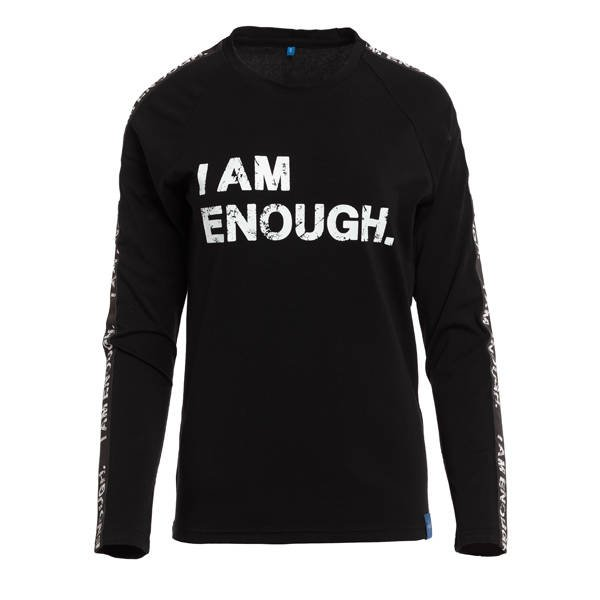 LONGSLEEVE 'I AM ENOUGH' BLACK - ROZMIAR M