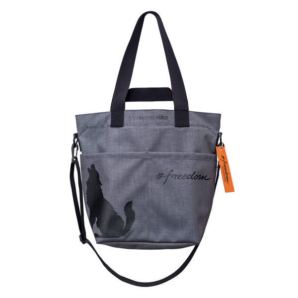 TORBA Z CORDURY WILK #FREEDOM GREY SMALL